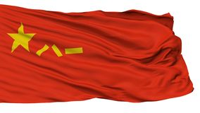 Bandera de la República de China de la gente del ejército de liberación de gente, aislada en blanco stock de ilustración
