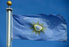 Bandera de la república de la concha Imagen de archivo libre de regalías