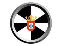 bandera de la ronda 3D de Ceuta stock de ilustración