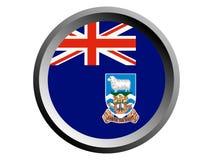 bandera de la ronda 3D de Falkland Islands ilustración del vector
