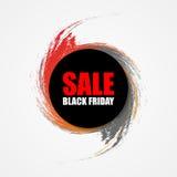 Bandera de la ronda de venta de Black Friday Vector Foto de archivo libre de regalías