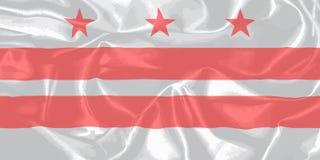 Bandera de la seda del estado del Washington DC Fotografía de archivo libre de regalías