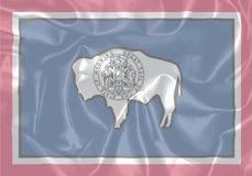 Bandera de la seda del estado de Wyoming Fotografía de archivo