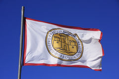 Bandera de la sociedad de amigos de Dubrovnik viejo Fotos de archivo