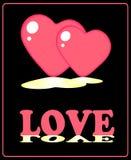 Bandera de la tarjeta del día de San Valentín Foto de archivo libre de regalías