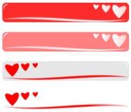 Bandera de la tarjeta del día de San Valentín Fotos de archivo