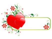 Bandera de la tarjeta del día de San Valentín libre illustration