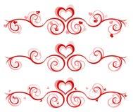 Bandera de la tarjeta del día de San Valentín - 3 diseños Fotografía de archivo