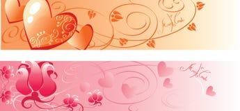 Bandera de la tarjeta del día de San Valentín Fotografía de archivo
