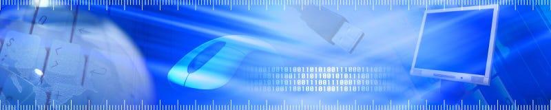 Bandera de la tecnología. stock de ilustración