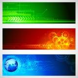Bandera de la tecnología Fotografía de archivo libre de regalías