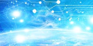 Bandera de la tecnología Imágenes de archivo libres de regalías
