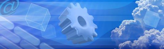 Bandera de la tecnología de la ciencia ilustración del vector
