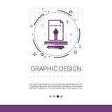 Bandera de la tecnología de la programación de equipo de desarrollo del ejemplo del diseño gráfico con el espacio de la copia ilustración del vector