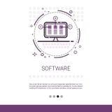 Bandera de la tecnología del dispositivo de programación de equipo de desarrollo del software del diseño web con el espacio de la ilustración del vector