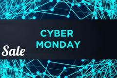 Bandera de la tecnología de la venta para lunes cibernético libre illustration