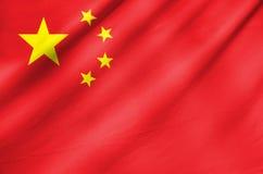 Bandera de la tela de China Imagen de archivo libre de regalías