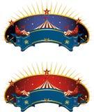 Bandera de la tienda de circo Fotos de archivo libres de regalías