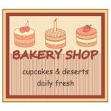 Bandera de la tienda de la panadería Imagen de archivo