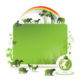 Bandera de la tierra verde Imagenes de archivo