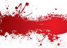 Bandera de la tira de la sangre Fotografía de archivo
