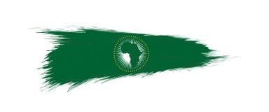 Bandera de la unión africana en movimiento del cepillo del grunge libre illustration