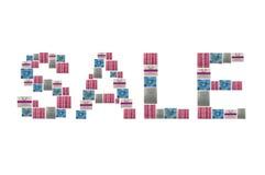 Bandera de la VENTA Imagen de archivo