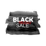 Bandera de la venta de Black Friday con el movimiento del cepillo de la acuarela Foto de archivo libre de regalías