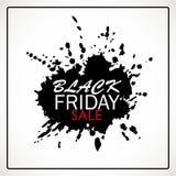 Bandera de la venta de Black Friday con la mancha blanca /negra de la pintura Imágenes de archivo libres de regalías