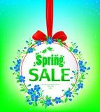 Bandera de la venta de la primavera Fotografía de archivo libre de regalías