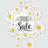 Bandera de la venta de la primavera Fondo para la promoción estacional de la primavera Fotos de archivo libres de regalías