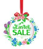 Bandera de la venta de Pascua redonda ilustración del vector