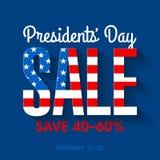 Bandera de la venta de presidentes Day ilustración del vector