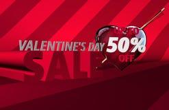Bandera de la venta del día del ` s de la tarjeta del día de San Valentín stock de ilustración