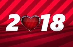 Bandera de la venta del día del ` s de la tarjeta del día de San Valentín ilustración del vector
