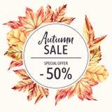 Bandera de la venta del otoño Imagenes de archivo