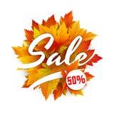 Bandera de la venta del otoño ilustración del vector