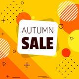 Bandera de la venta del otoño shapes libre illustration