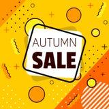 Bandera de la venta del otoño shapes ilustración del vector