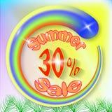 Bandera de la venta del verano ilustración del vector