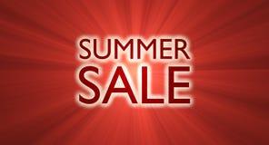 Bandera de la venta del verano en rojo Fotos de archivo