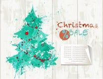 Bandera de la venta de la Navidad foto de archivo
