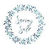 Bandera de la venta de la primavera, plantilla del cartel con las flores de la primavera fotografía de archivo