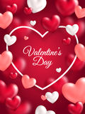 Bandera de la vertical del día de tarjetas del día de San Valentín Foto de archivo libre de regalías