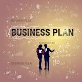 Bandera de lanzamiento del desarrollo de Team Business Plan Strategy Concept del grupo de los empresarios Foto de archivo