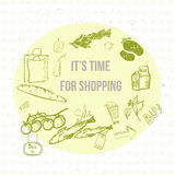 Bandera de las compras del eco del garabato del vector EPS10 Fotografía de archivo libre de regalías