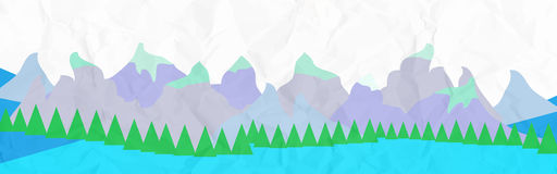 Bandera de las montañas Fotografía de archivo libre de regalías