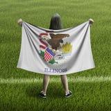 Bandera de las mujeres y de Illinois foto de archivo