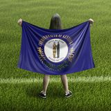 Bandera de las mujeres y de Kentucky fotografía de archivo libre de regalías