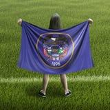 Bandera de las mujeres y de Rhode Island imagen de archivo